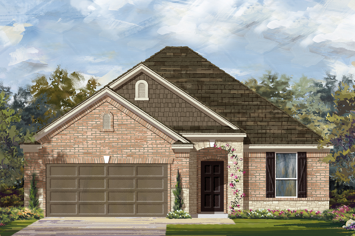 New Homes in Lockhart, TX - Plan A-1792 C