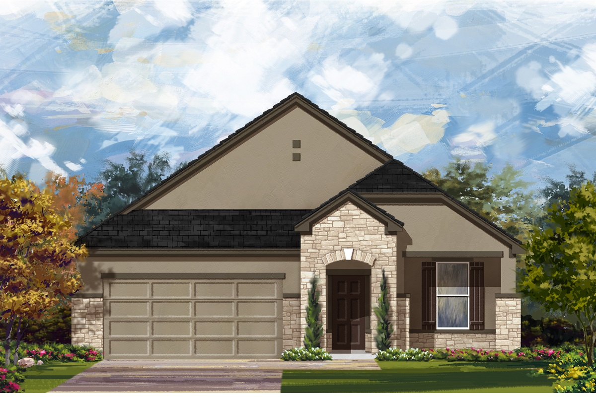 New Homes in Lockhart, TX - Plan A-1792 D