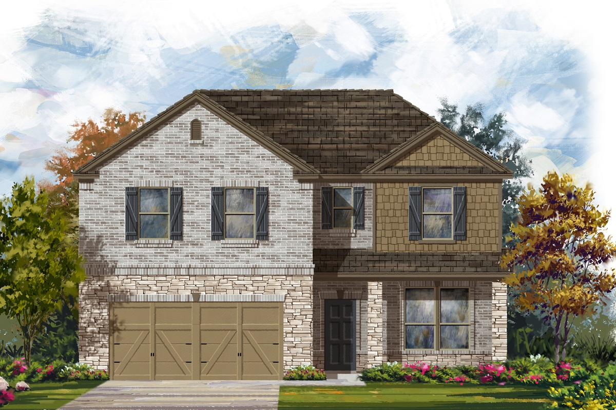 New Homes in Lockhart, TX - Plan A-2469 C