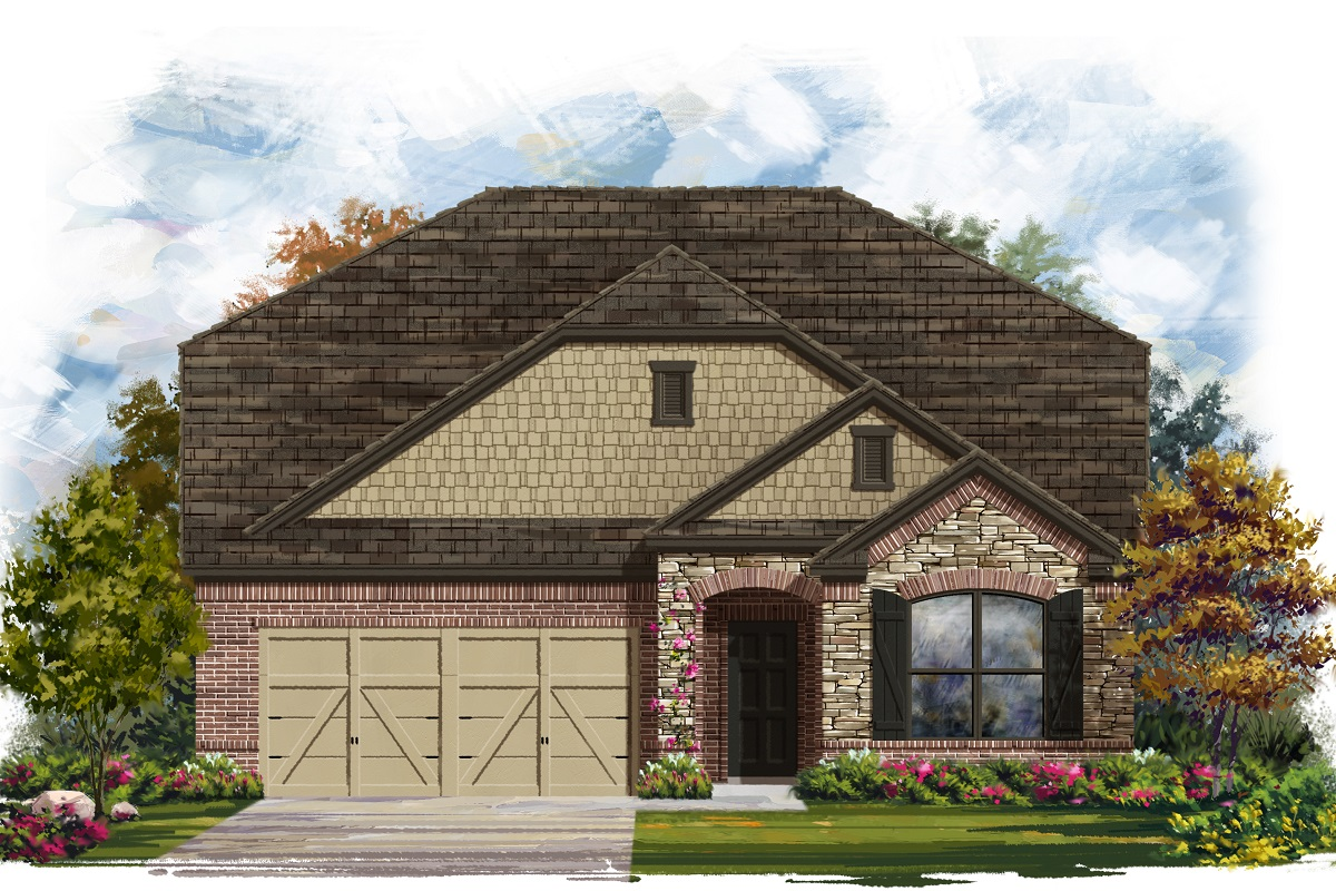 New Homes in Lockhart, TX - Plan A-2655 C
