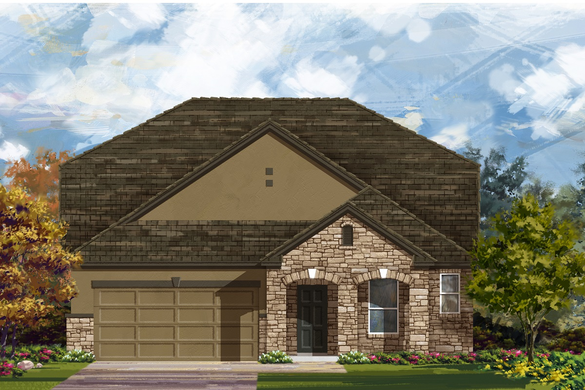 New Homes in Lockhart, TX - Plan A-2655 D
