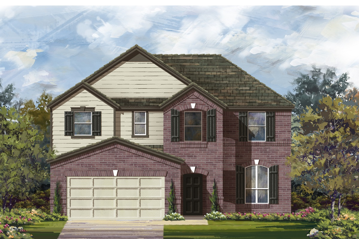 New Homes in Lockhart, TX - Plan A-2797 B