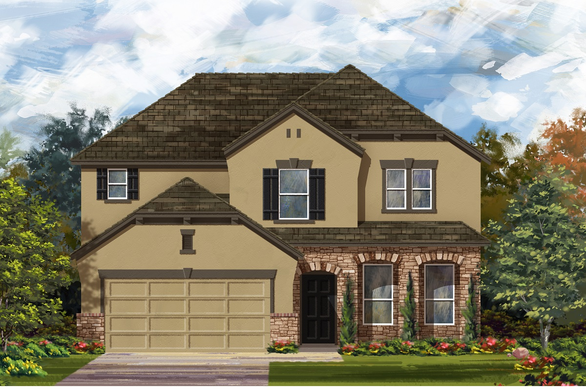 New Homes in Lockhart, TX - Plan A-2797 D