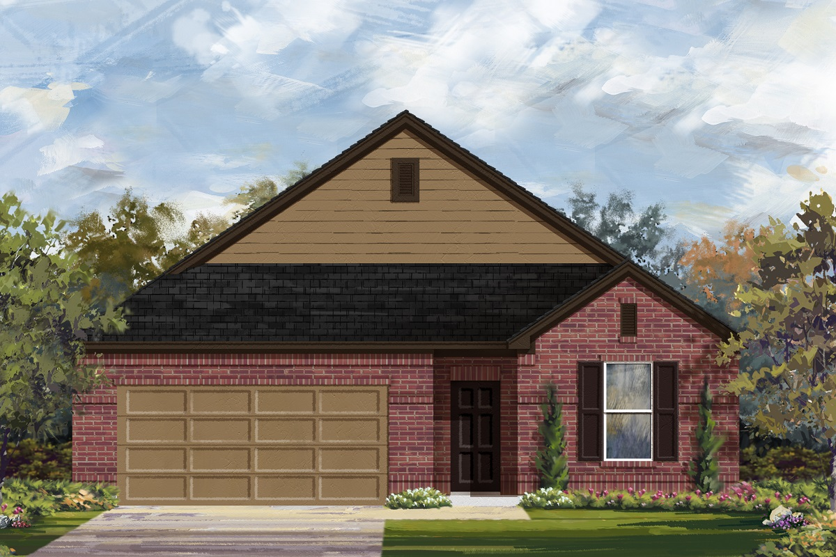 New Homes in Lockhart, TX - Elevation A