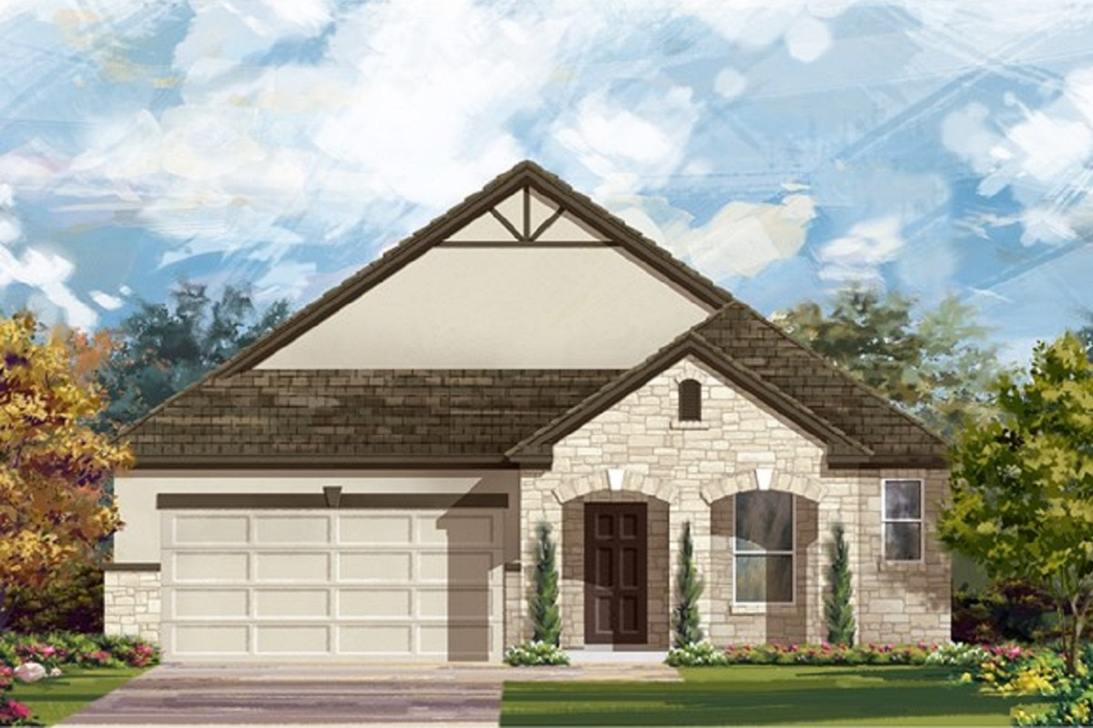 New Homes in Lockhart, TX - Meadows at Clearfork Elevation D