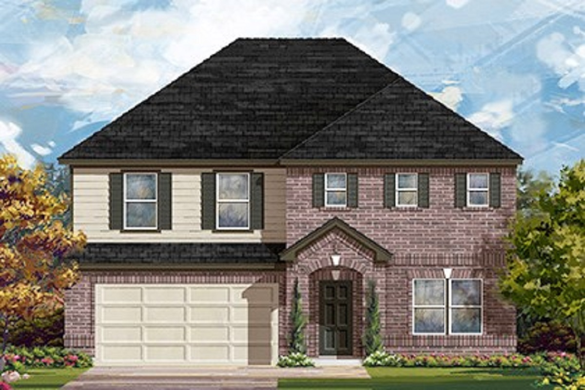 New Homes in Lockhart, TX - Meadows at Clearfork Plan 2881 Elevation A
