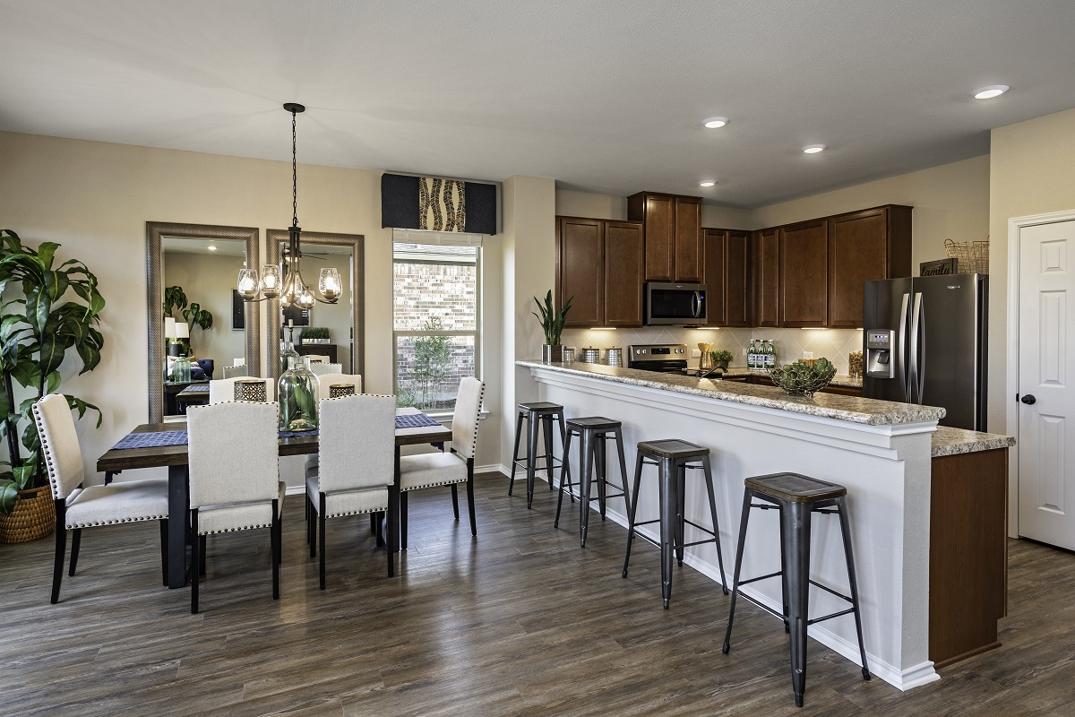 New Homes in Lockhart, TX - Meadows at Clearfork Plan 1675 Kitchen