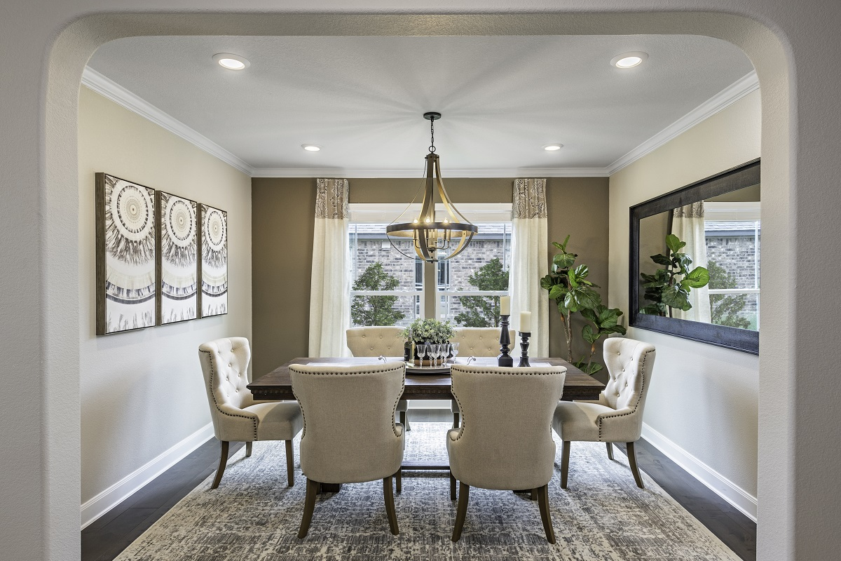 New Homes in Lockhart, TX - Meadows at Clearfork Plan 2502 Dining Room