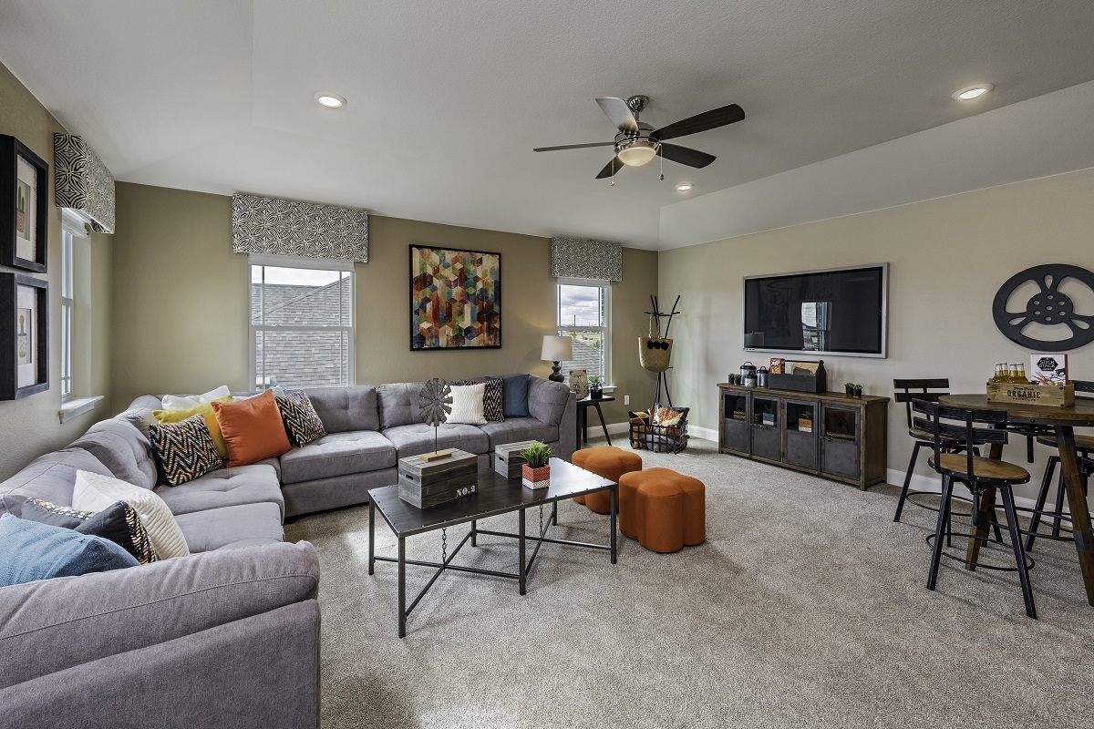New Homes in Lockhart, TX - Meadows at Clearfork Plan 2502 Game Room