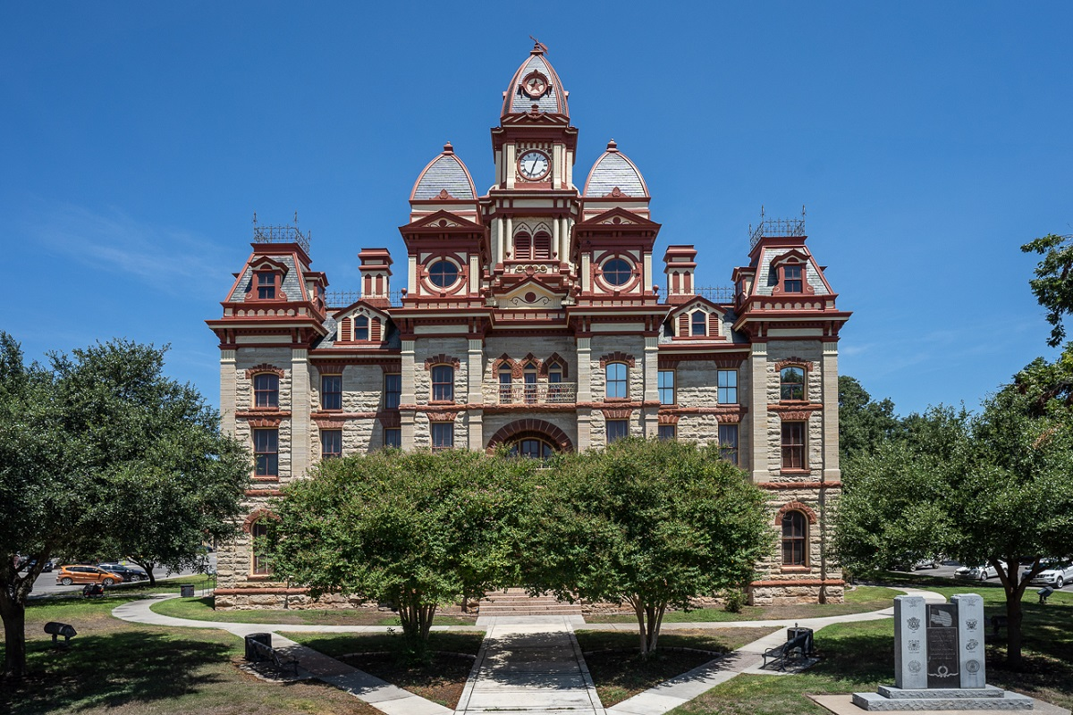 New Homes in Lockhart, TX - Meadows at Clearfork Historic Caldwell County Courthouse