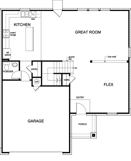 New Homes in Lockhart, TX - Plan A-2469, First Floor