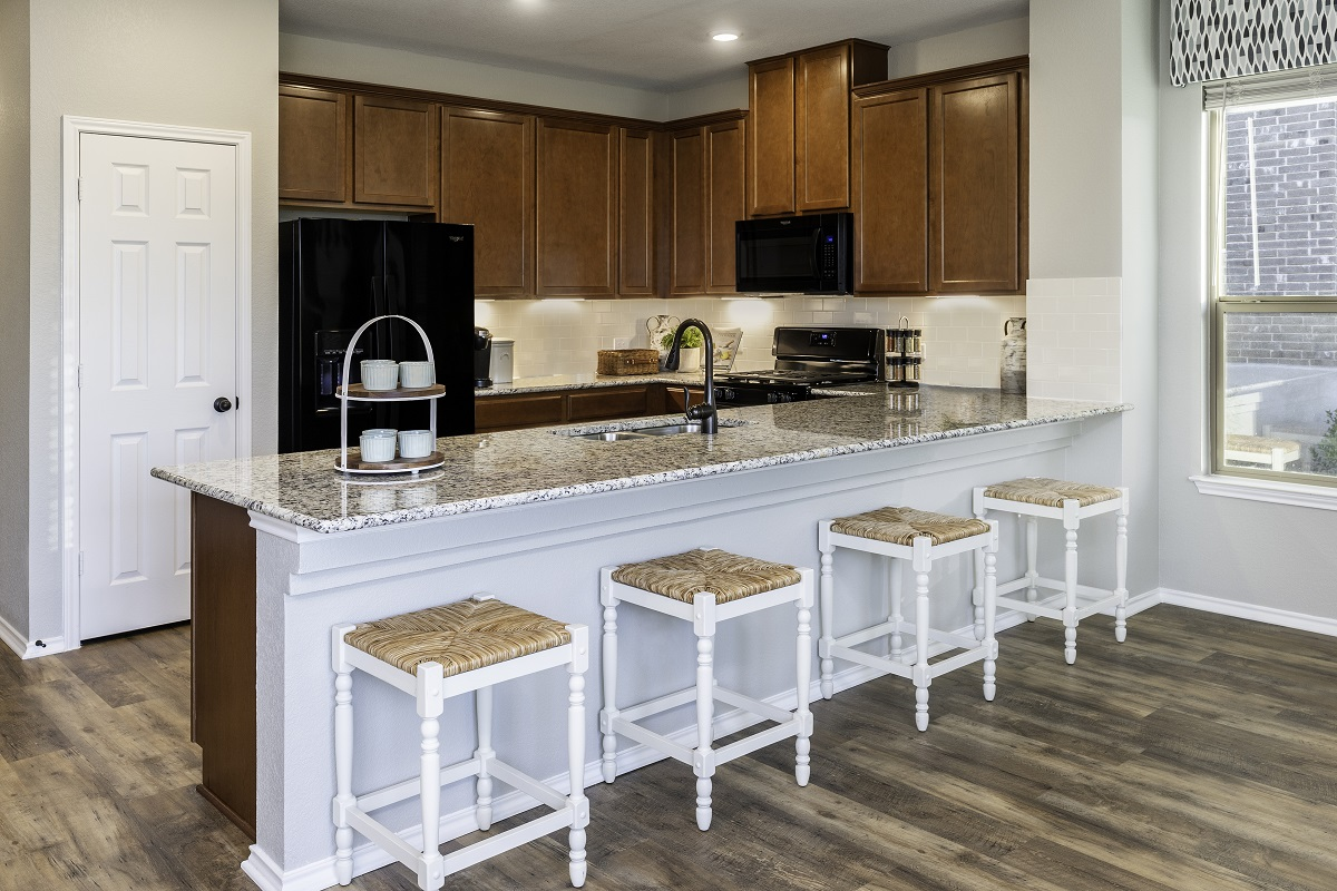 New Homes in Georgetown, TX - Oakmont Plan A-1675 Kitchen