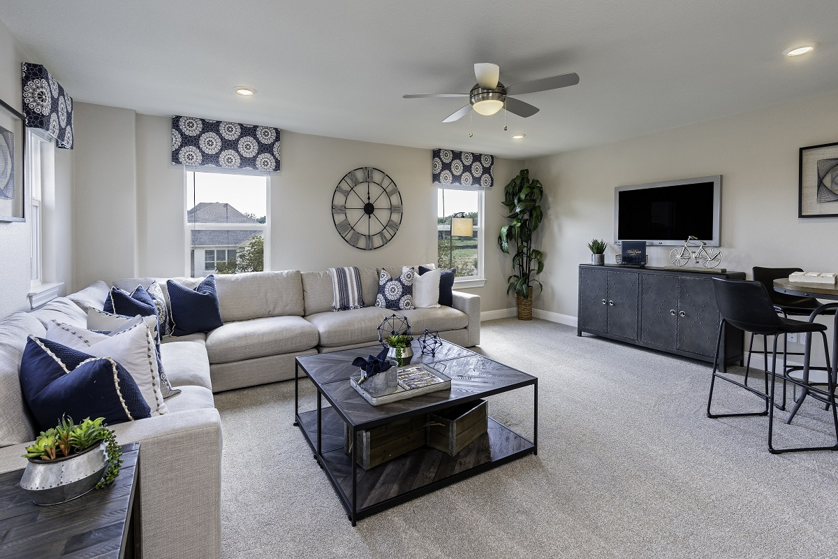 New Homes in Georgetown, TX - Oakmont Plan A-2502 Game Room