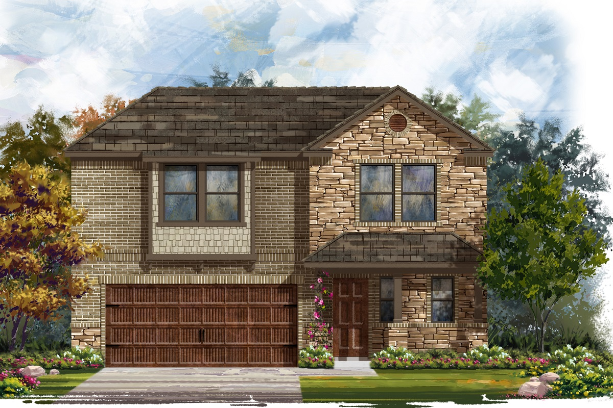 New Homes in Bastrop, TX - Plan E-2412 J