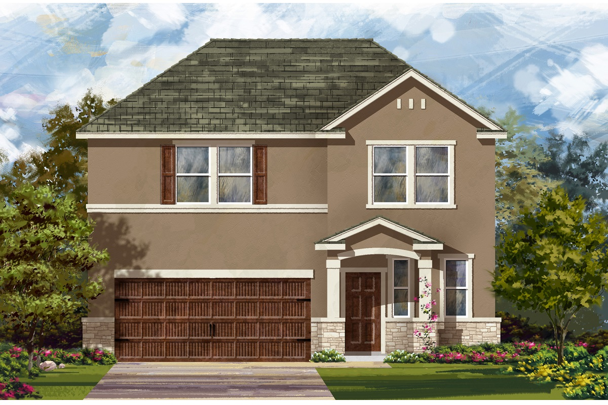 New Homes in Bastrop, TX - Plan E-2412 K