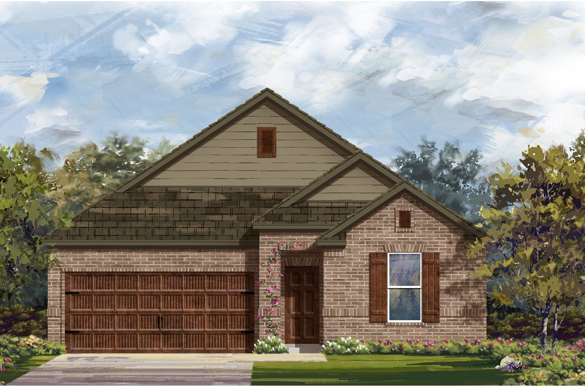 New Homes in Bastrop, TX - Elevation B