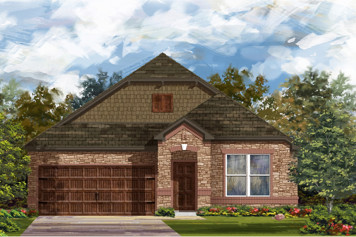 New Homes in Bastrop, TX - Piney Creek Bend Elevation C
