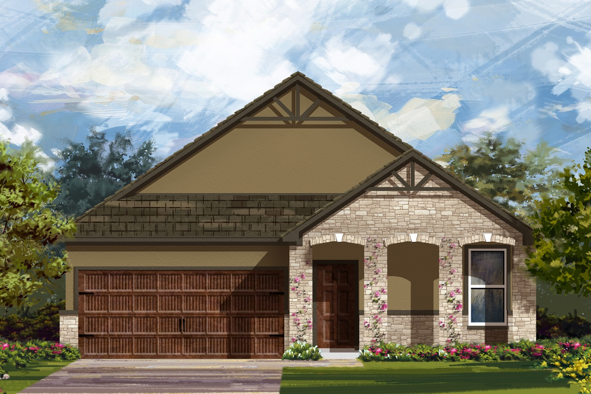 New Homes in Bastrop, TX - Elevation D