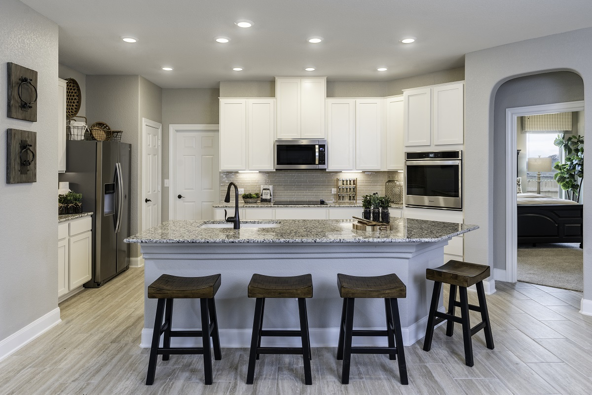 New Homes in Bastrop, TX - Piney Creek Bend Plan E-2412 Kitchen