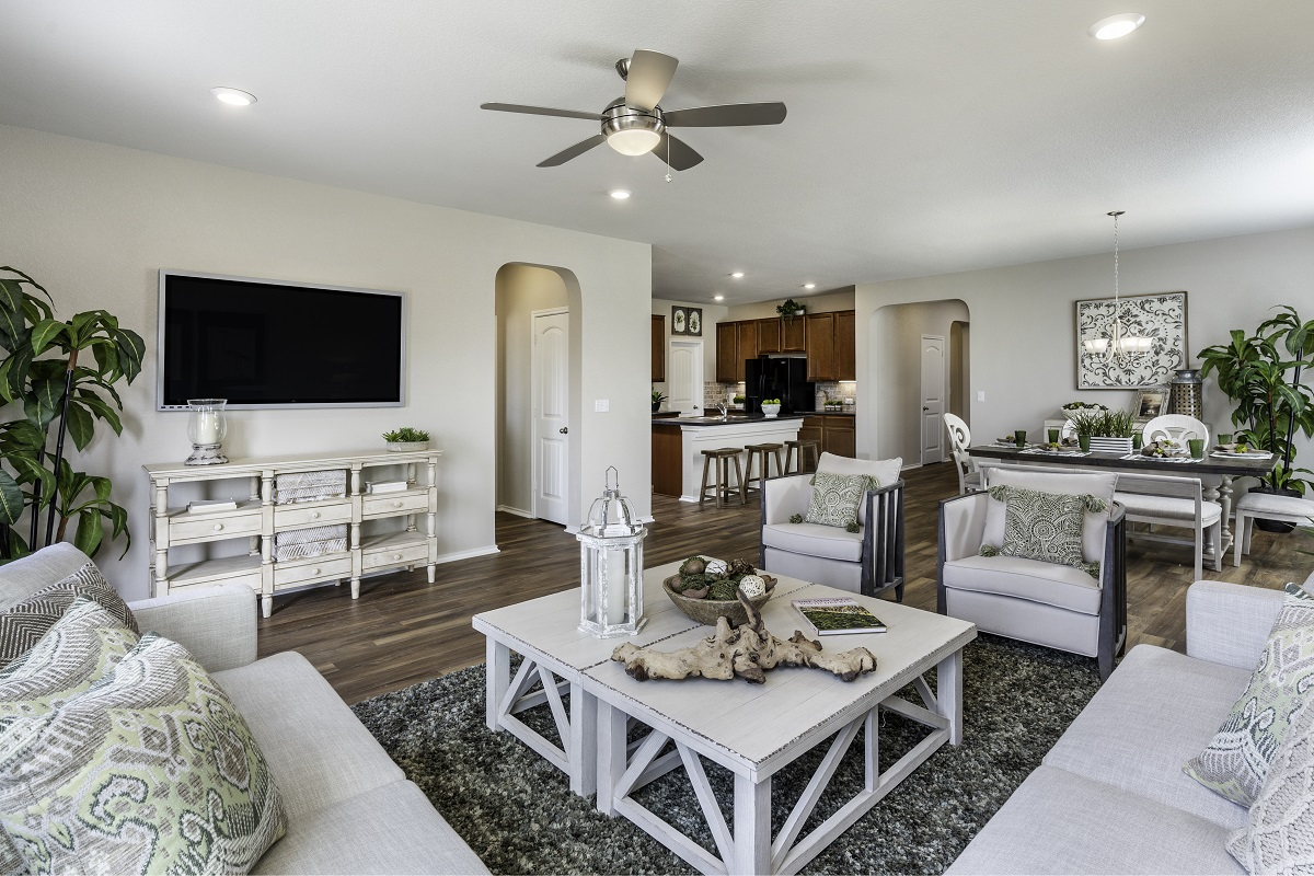 New Homes in Bastrop, TX - Piney Creek Bend Plan A-1965 Great Room