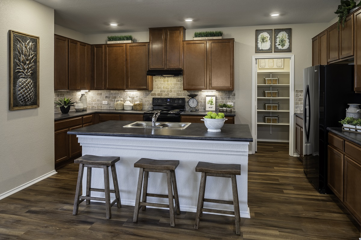 New Homes in Bastrop, TX - Piney Creek Bend Plan A-1965 Kitchen