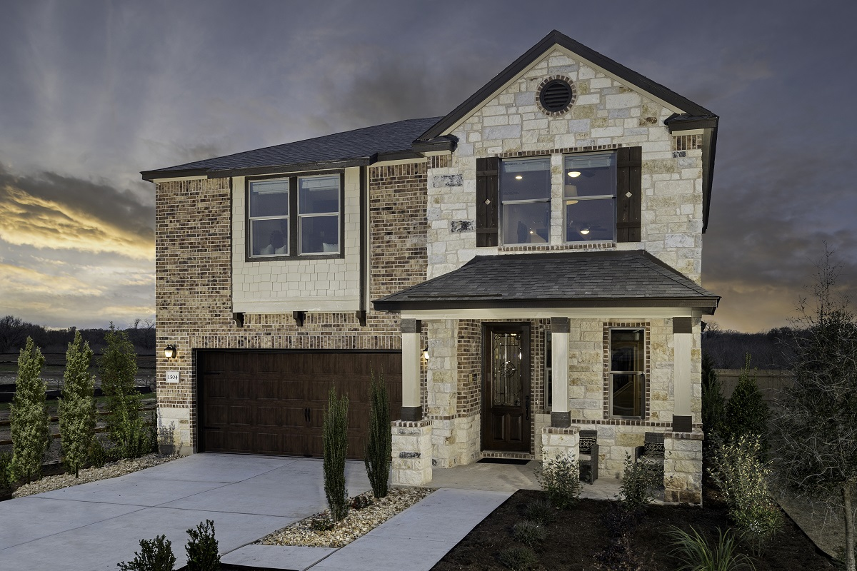 New Homes in Bastrop, TX - Plan E-2412 Modeled