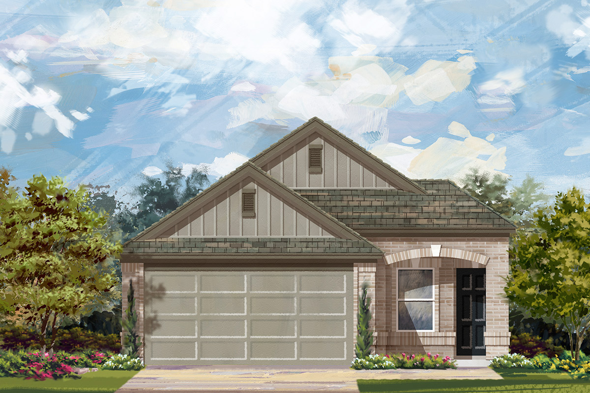 New Homes in Manor, TX - Elevation F