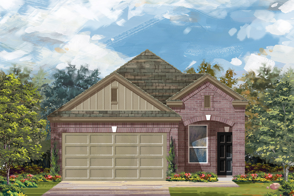 New Homes in Manor, TX - Plan F-1340 F