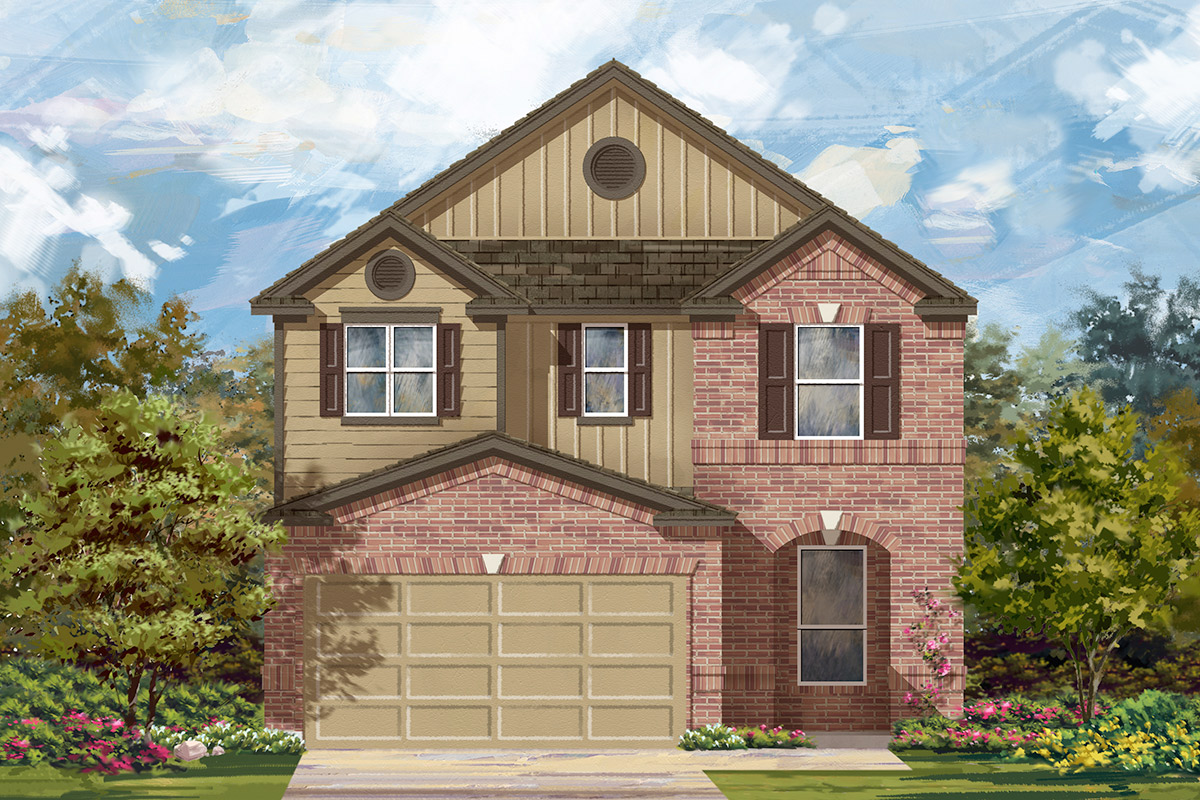 New Homes in Manor, TX - Plan F-2411 F