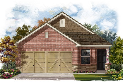 New Homes in Manor, TX - Plan F-1353 E