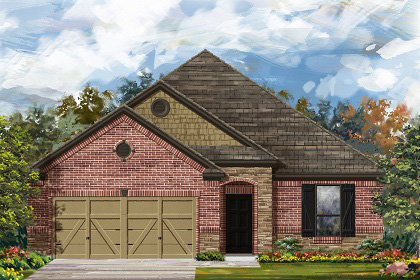 New Homes in Manor, TX - Plan A-1675 C