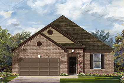 New Homes in Manor, TX - Plan A-1965 B