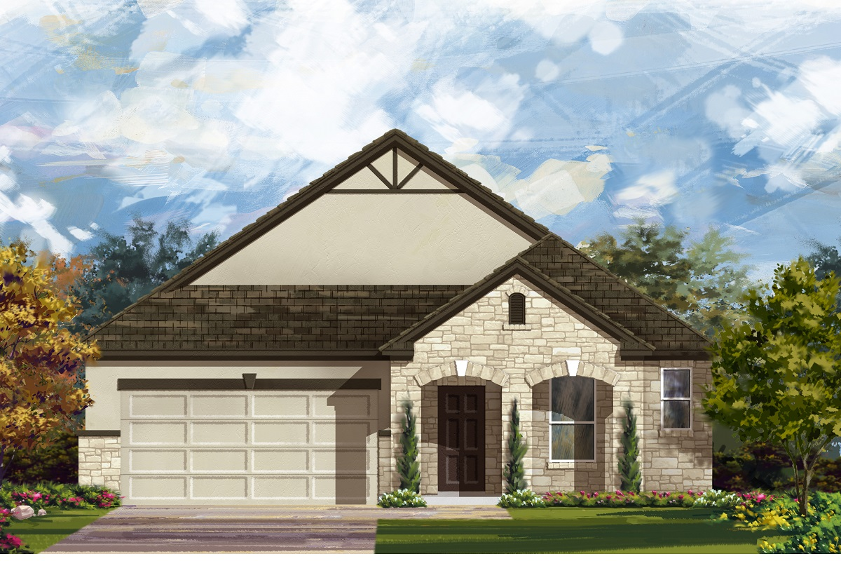 New Homes in Manor, TX - Plan A-1996 D