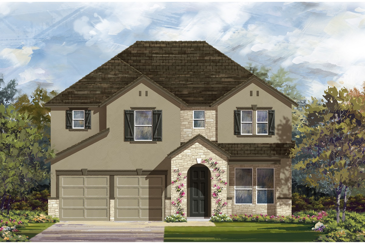 New Homes in Manor, TX - Plan A-2755 D
