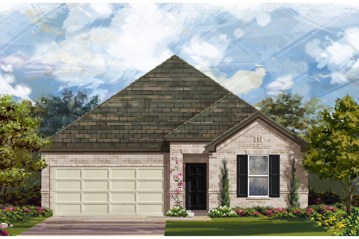 New Homes in Manor, TX - Presidential Meadows - Classic Collection Elevation A