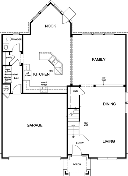 New Homes in Manor, TX - Plan A-2755, First Floor