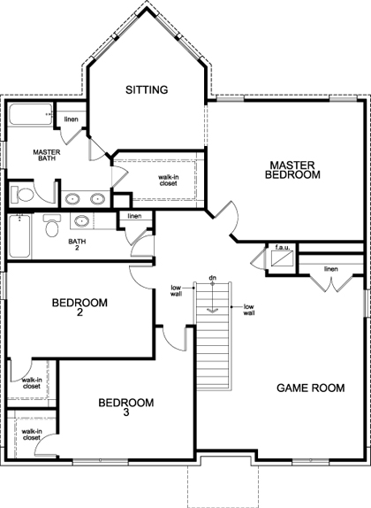 New Homes in Manor, TX - Plan A-2755, Second Floor