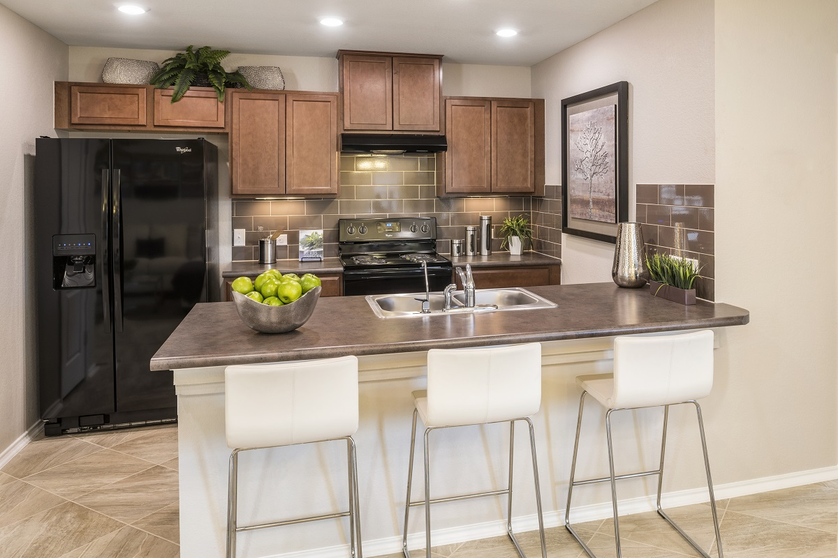 New Homes in Manor, TX - Presidential Meadows - Heritage Collection Plan F-1353 Kitchen