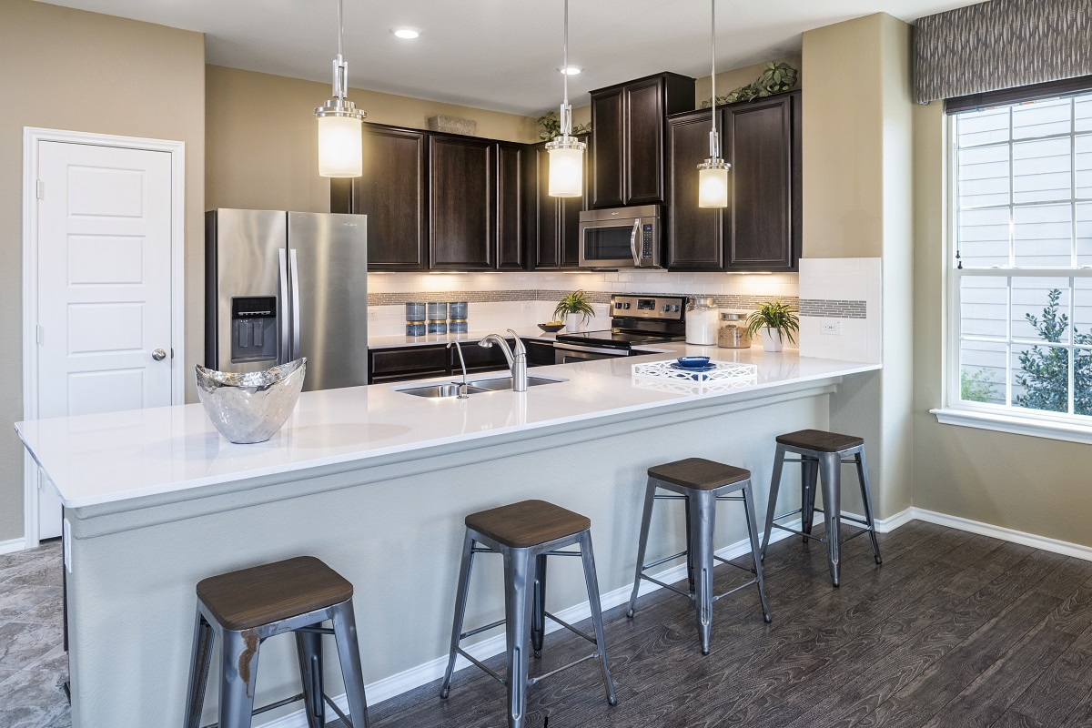 New Homes in Manor, TX - Presidential Meadows - Classic Collection Plan A-1675 Kitchen