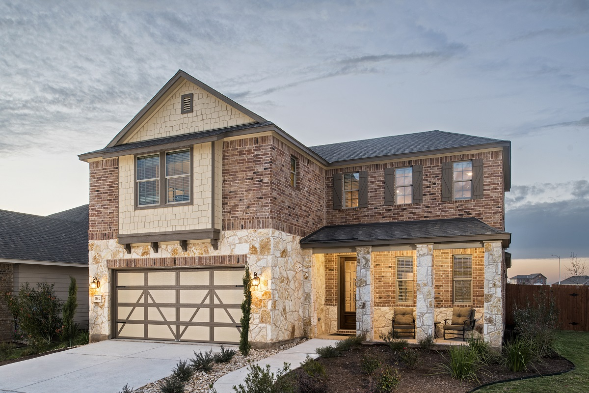New Homes in Manor, TX - Plan A-2502 Modeled