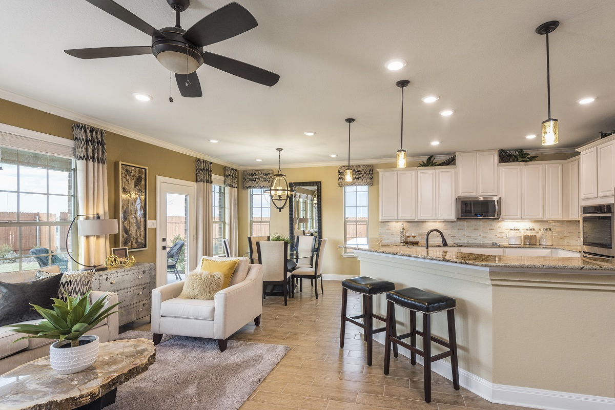 New Homes in Manor, TX - Presidential Meadows - Classic Collection Plan A-2502 Great Room