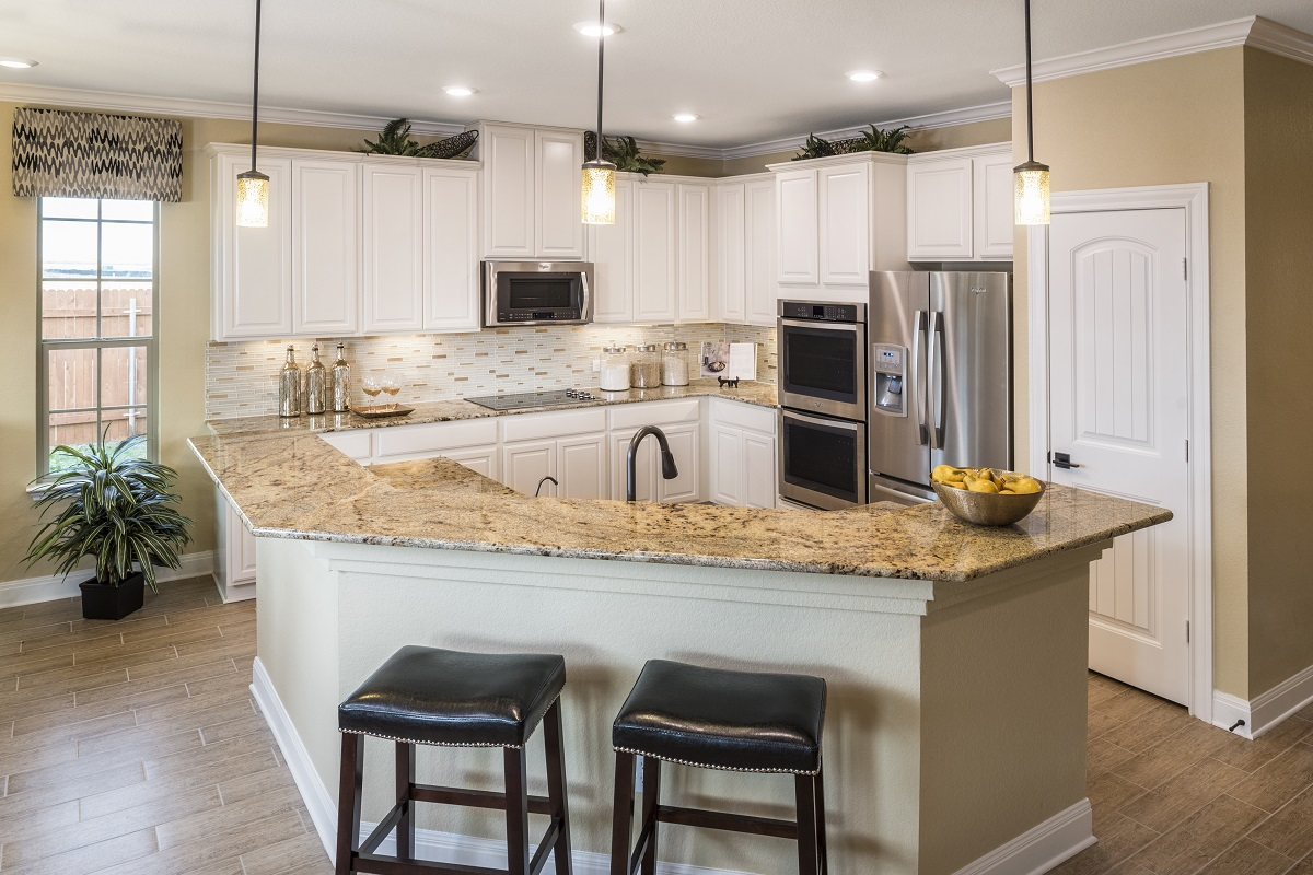 New Homes in Manor, TX - Presidential Meadows - Classic Collection Plan A-2502 Kitchen