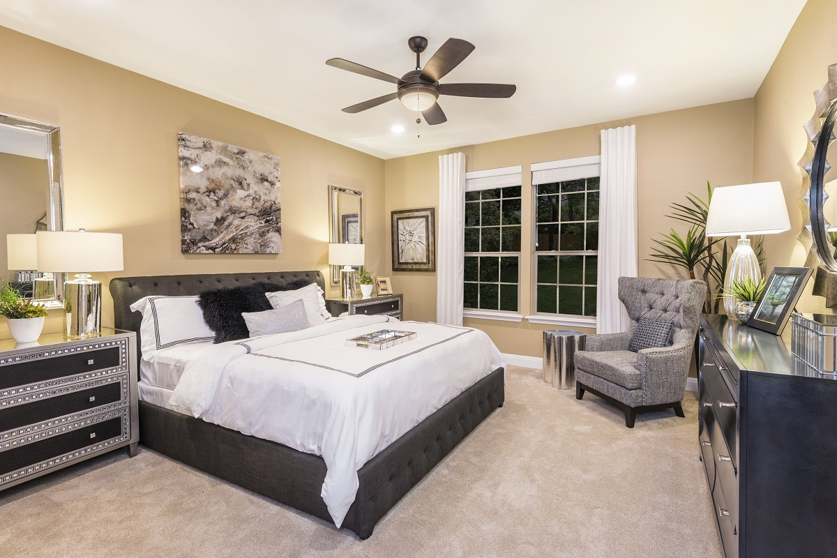 New Homes in Manor, TX - Presidential Meadows - Classic Collection Plan A-2502 Master Bedroom