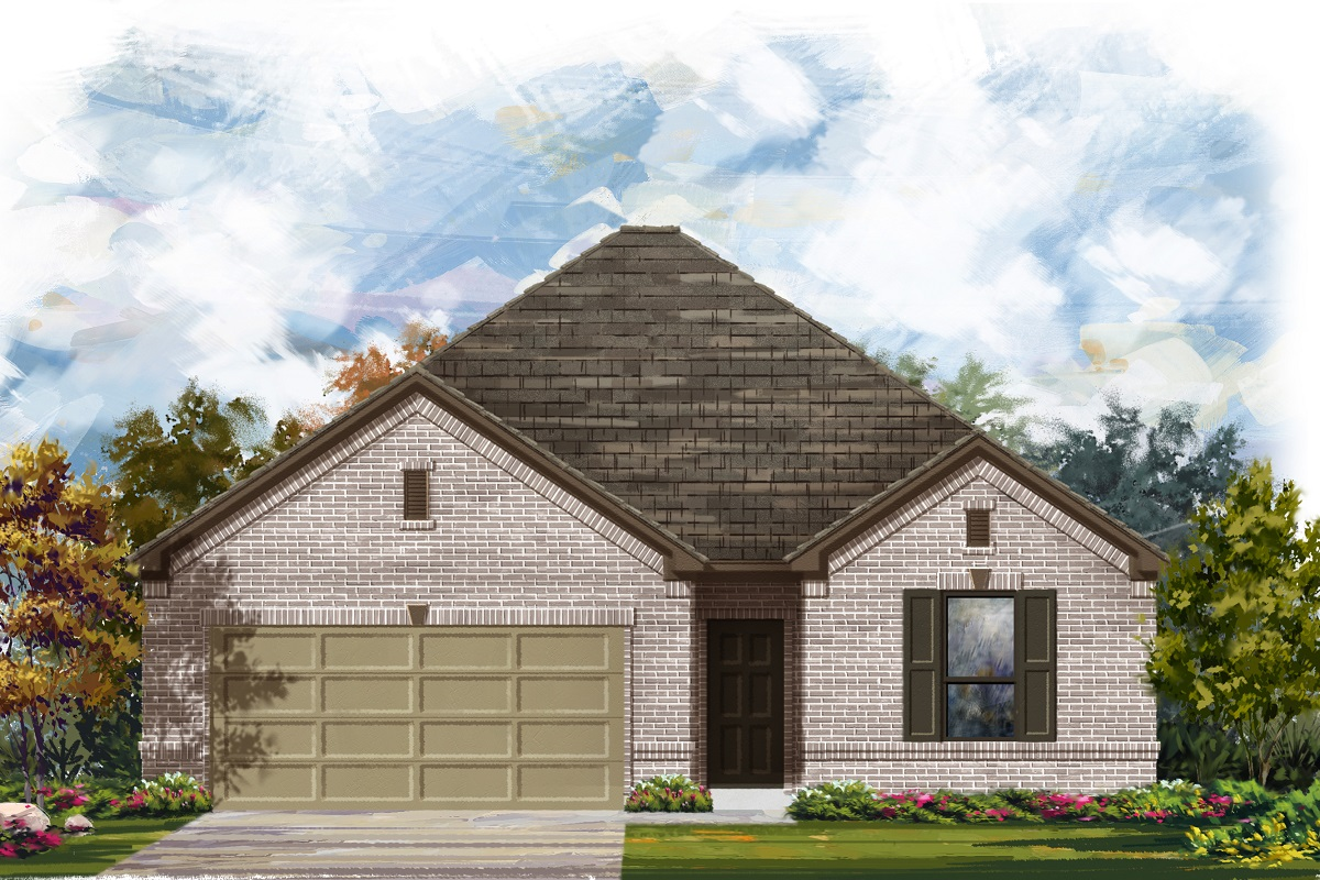 New Homes in Elgin, TX - Plan A-1675 1