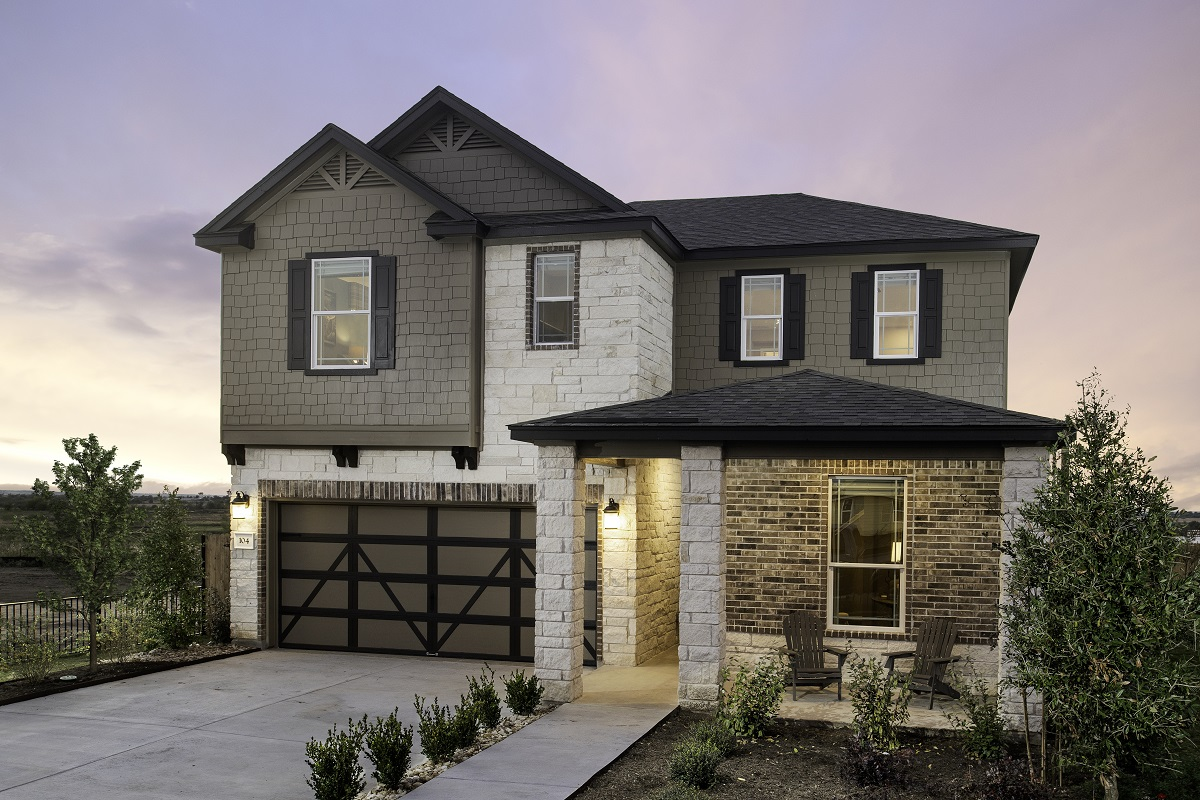 KB model home in Elgin, TX