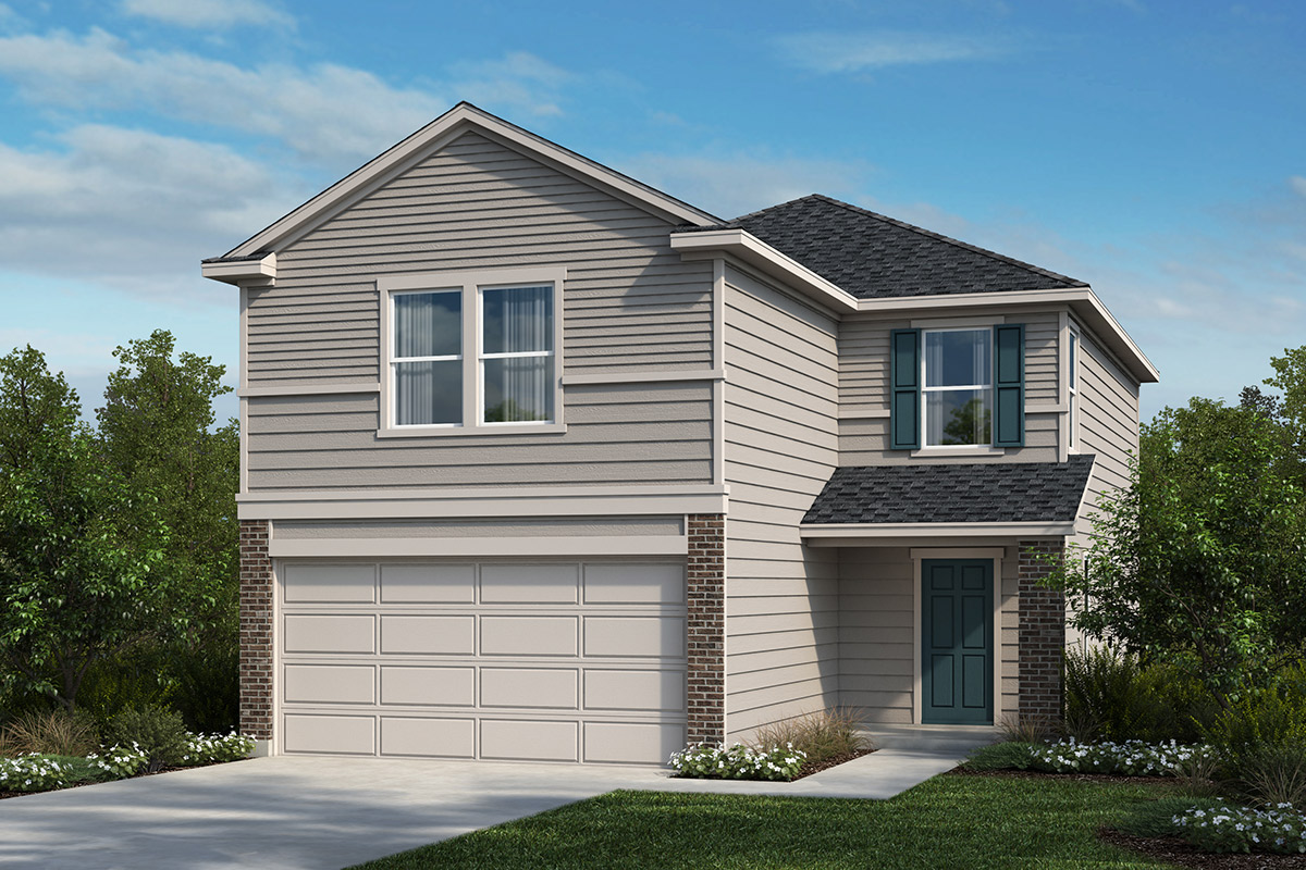 New Homes in Jarrell, TX - Sonterra - Cool Water Plan 1908 Elevation A