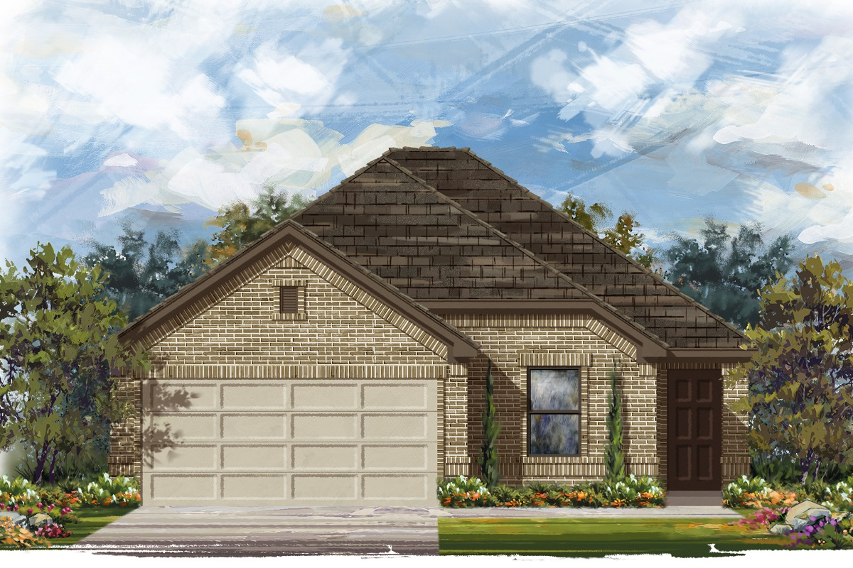 New Homes in Jarrell, TX - Plan E-1694 B