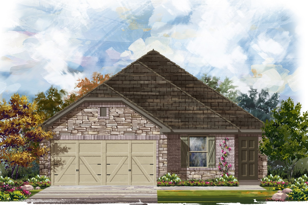 New Homes in Jarrell, TX - Plan E-1694 D