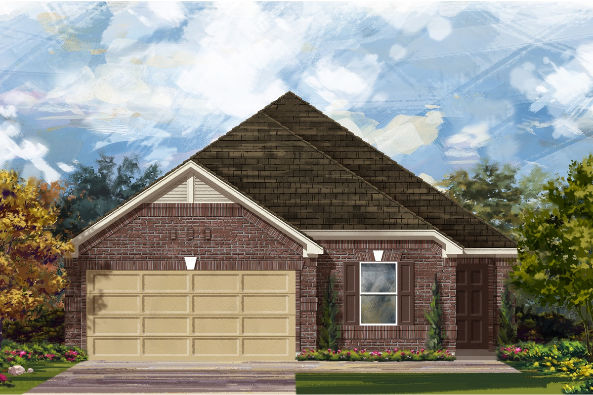 New Homes in Jarrell, TX - Plan E-1892 B