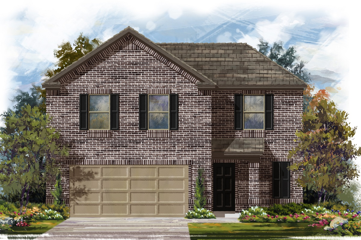 New Homes in Jarrell, TX - Plan E-1895 B